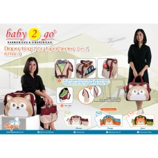 Baby Scots Diapers Bag 2 GO Tupai Series - B2T1303