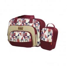 Diapers Bag 2 Go + Cooler  and Thermal  Bag Diamond  Series - B2T1305